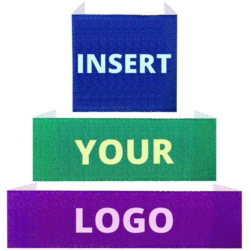 Personalized Woven Apparel Brand Name Labels End Folded Main Labels For Clothing