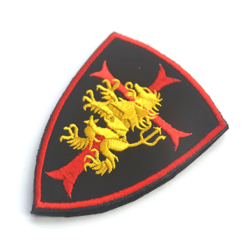 Custom Decorative Clothing Patches Embroidery Armband Fabric Uniform Security Type
